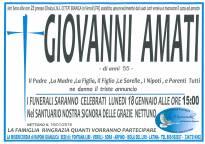 Servizio necrologi locali a Veroli - Giovanni Amati