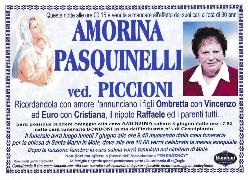 Manifesto funebre di  Amorina Pasquinelli