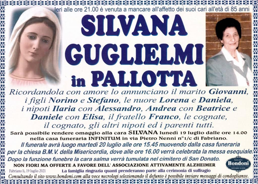 Manifesto funebre di  Silvana Guglielmi