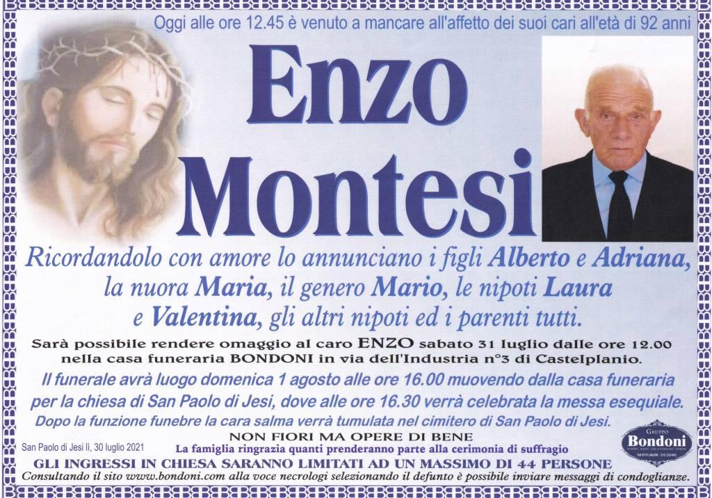 Manifesto funebre di  Enzo Montesi