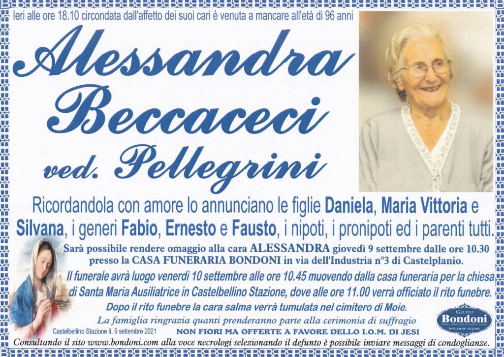 Manifesto funebre di  Alessandra Beccaceci