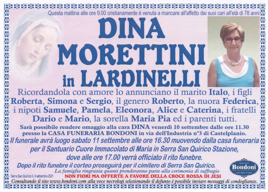 Manifesto funebre di  Dina Morettini