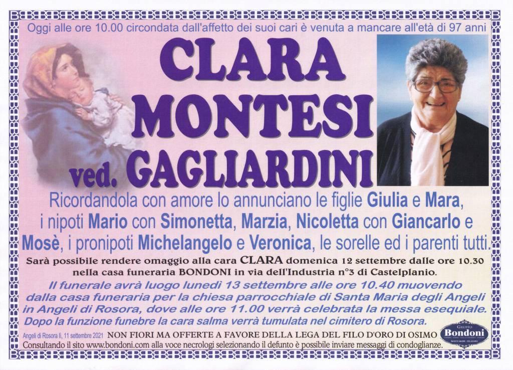 Manifesto funebre di  Clara Montesi