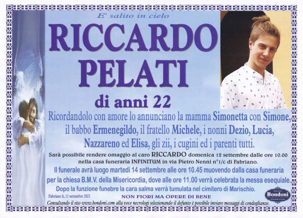 Manifesto funebre di  Riccardo Pelati