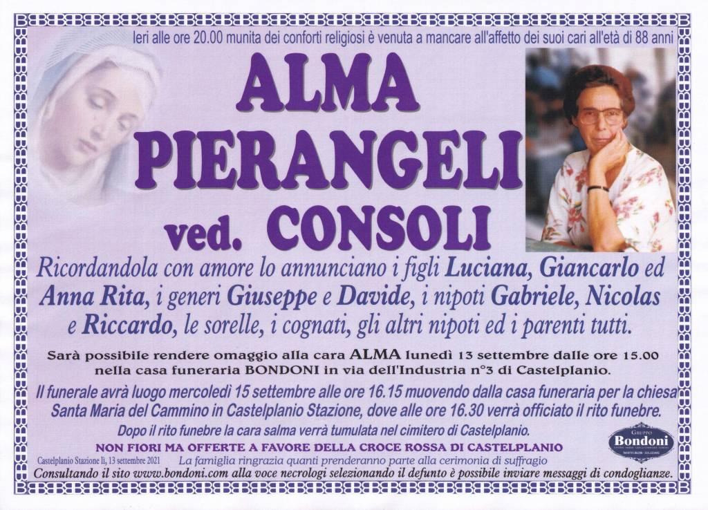 Manifesto funebre di  Alma Pierangeli