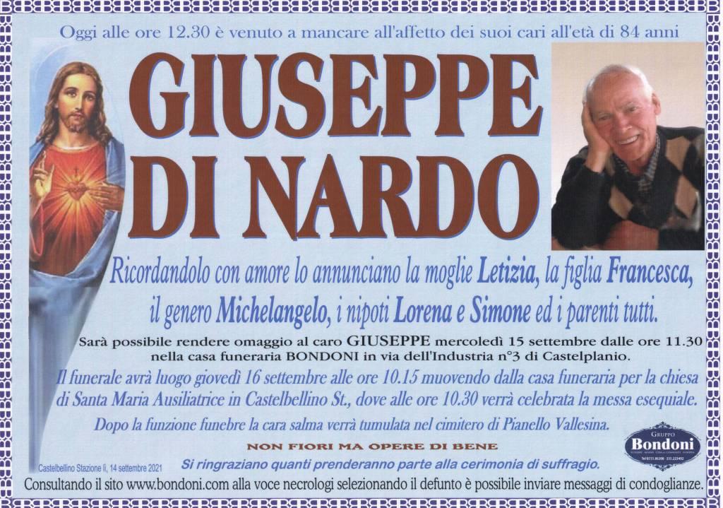 Manifesto funebre di  Giuseppe Di Nardo