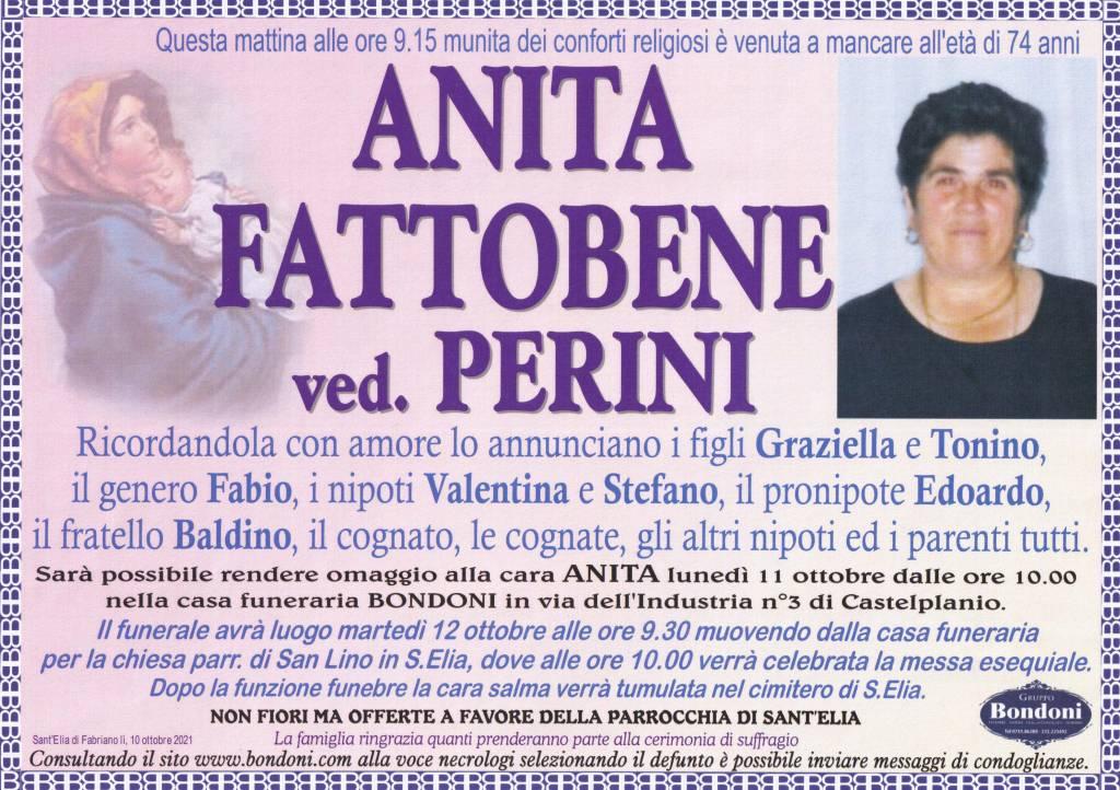 Manifesto funebre di  Anita Fattobene