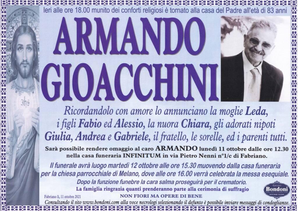 Manifesto funebre di  Armando Gioacchini