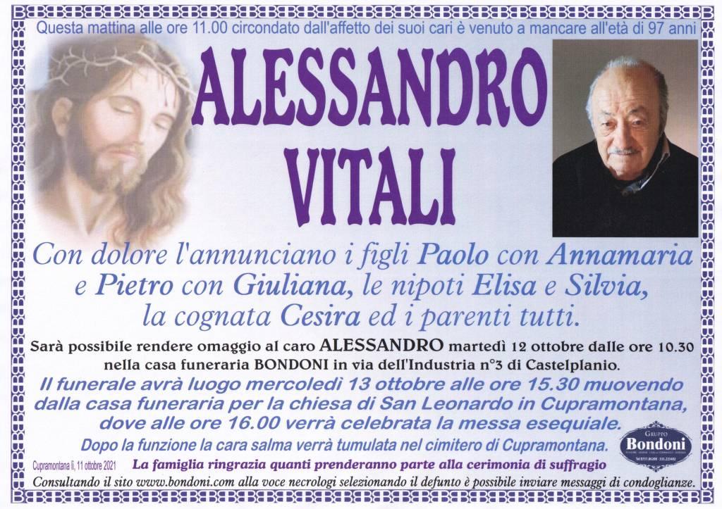 Manifesto funebre di  Alessandro Vitali