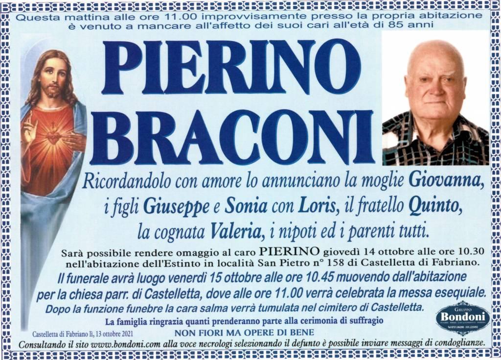 Manifesto funebre di  Pierino Braconi