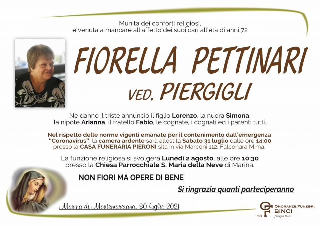 Manifesto funebre di  Fiorella Pettinari