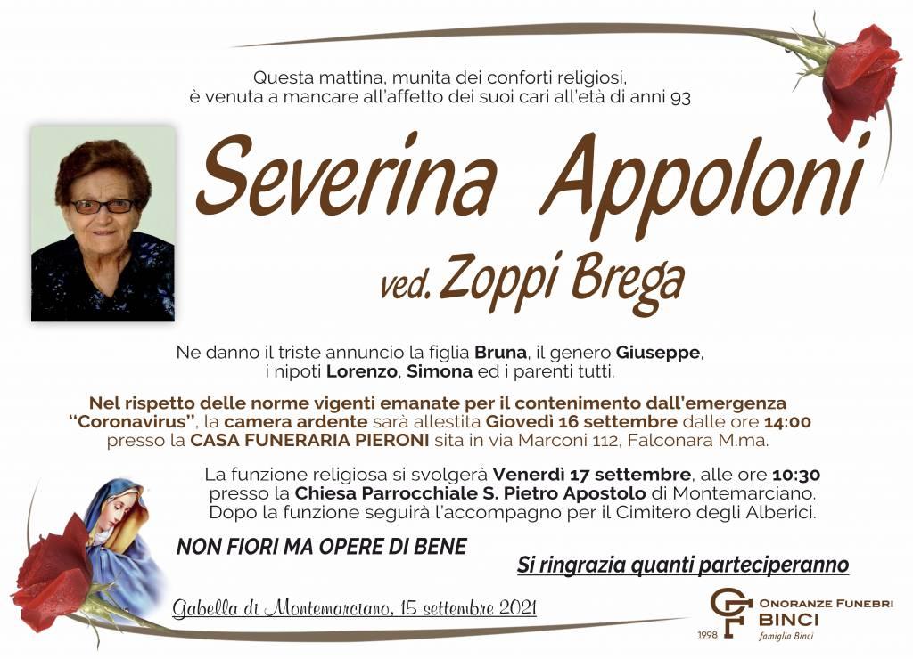 Manifesto funebre di  Severina Appoloni