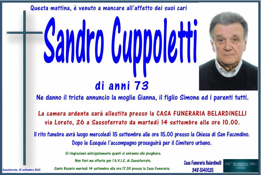 Manifesto funebre di  Sandro Cuppoletti