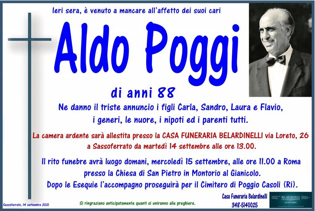 Manifesto funebre di  Aldo Poggi