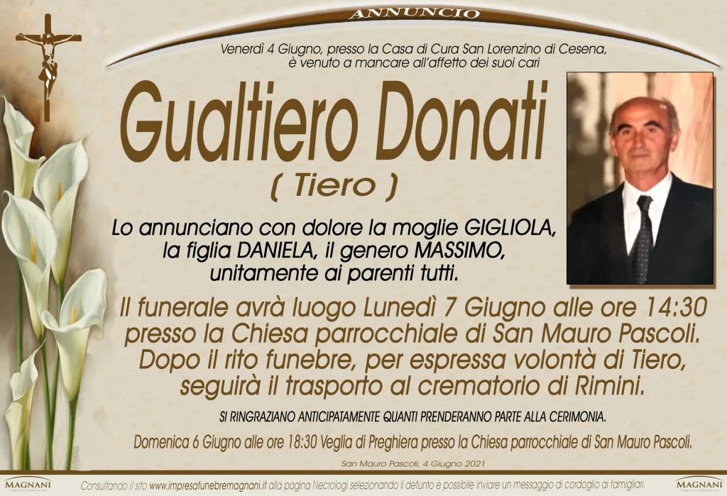 Manifesto funebre di  Gualtiero Donati 'Tiero'