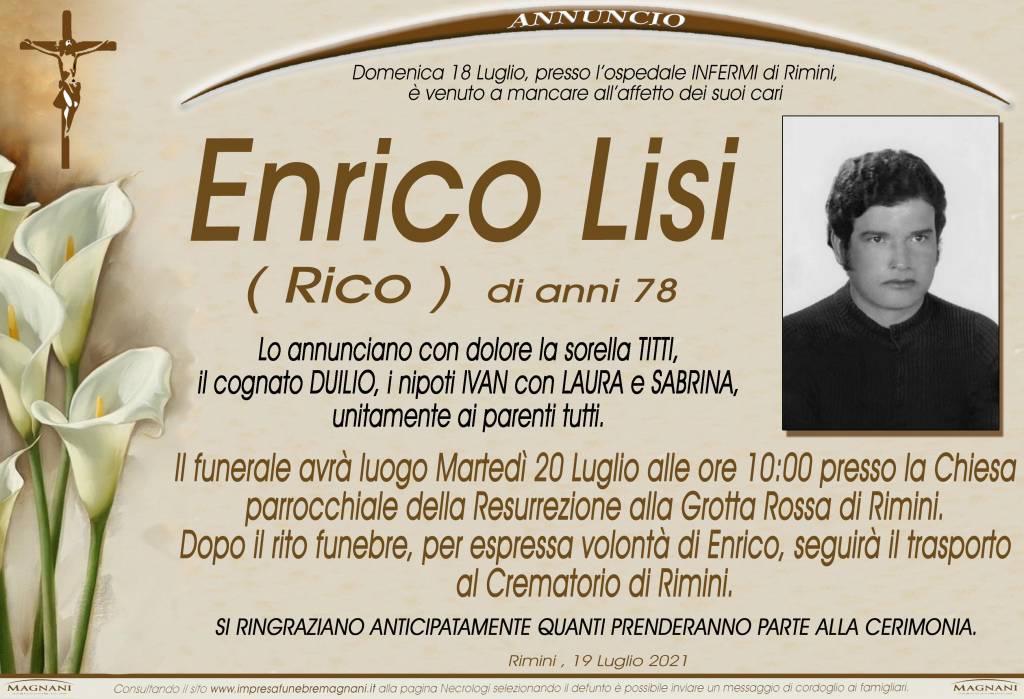 Manifesto funebre di  Enrico Lisi 'Rico'