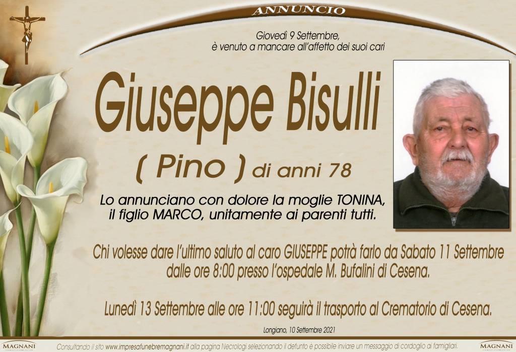 Manifesto funebre di  Giuseppe Bisulli 'PINO'