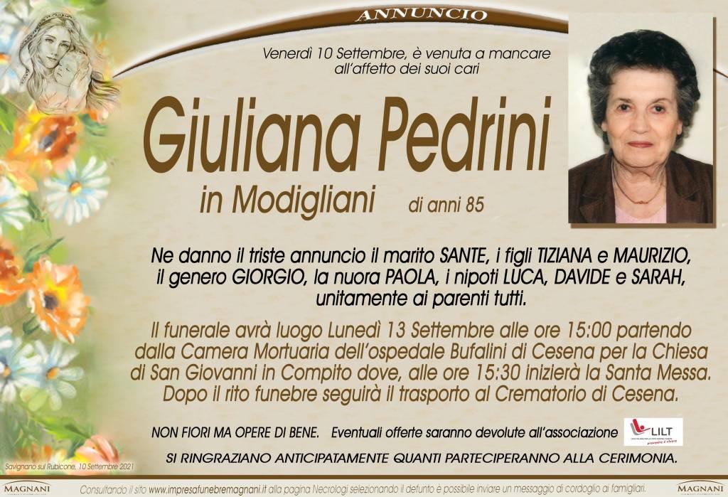 Manifesto funebre di  Giuliana Pedrini