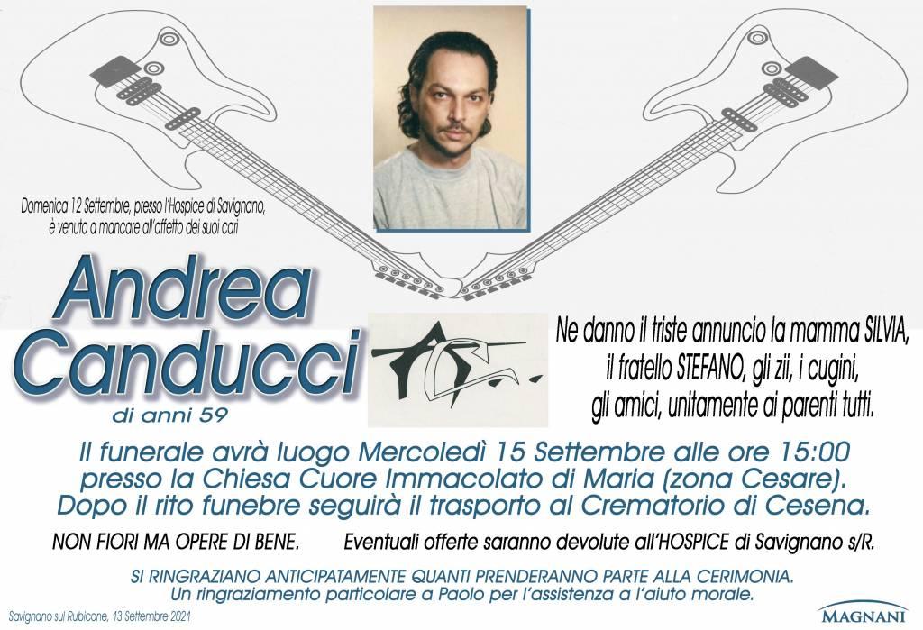 Manifesto funebre di  Andrea Canducci