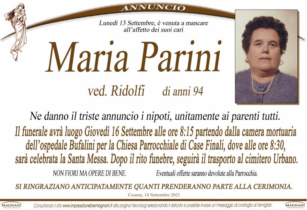 Manifesto funebre di  Maria Parini