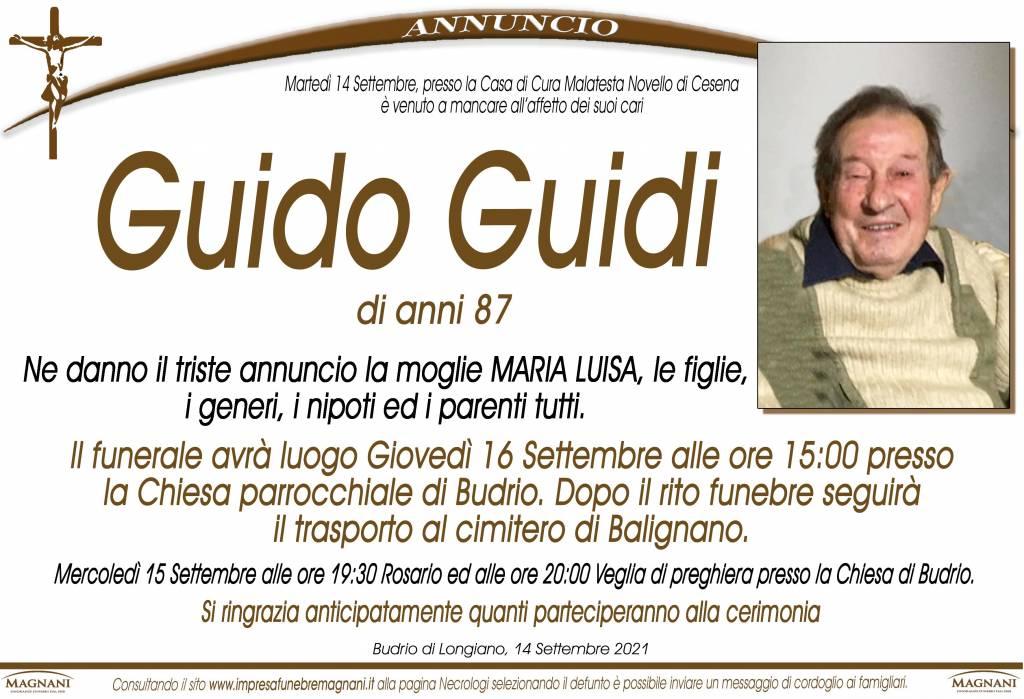 Manifesto funebre di  Guido Guidi