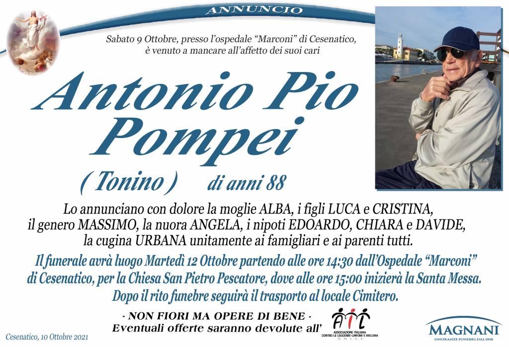 Manifesto funebre di  Antonio Pio Pompei 'TONINO'