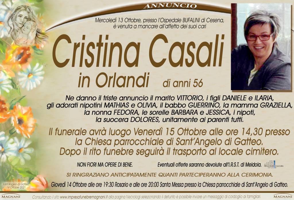 Manifesto funebre di  Cristina Casali