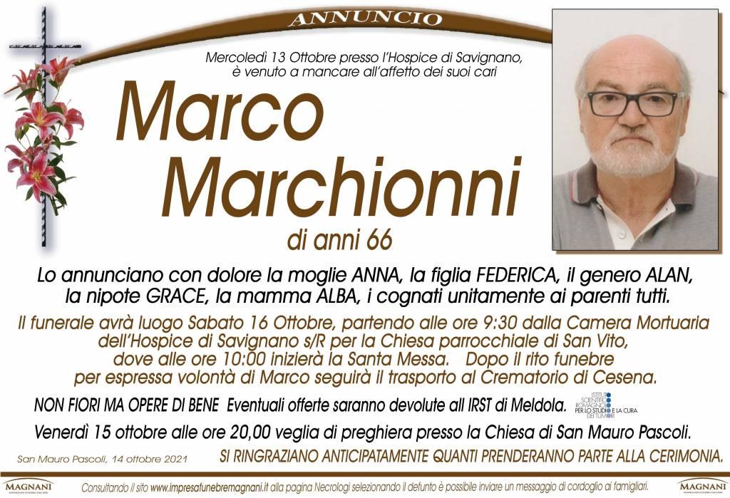 Manifesto funebre di  Marco Marchionni