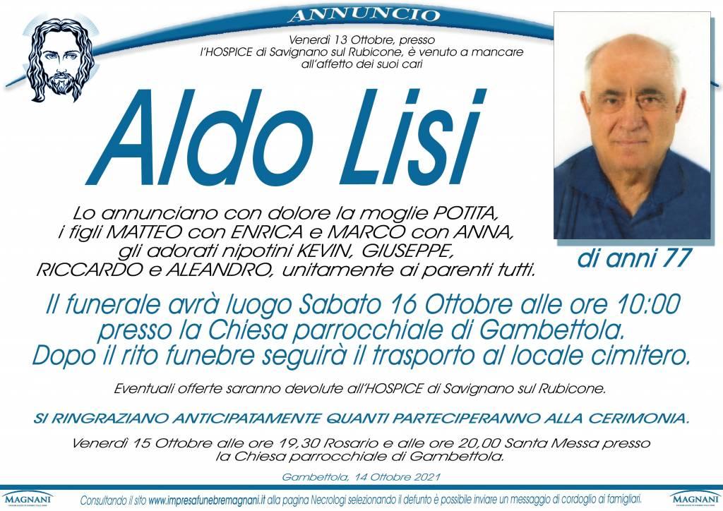 Manifesto funebre di  Aldo Lisi