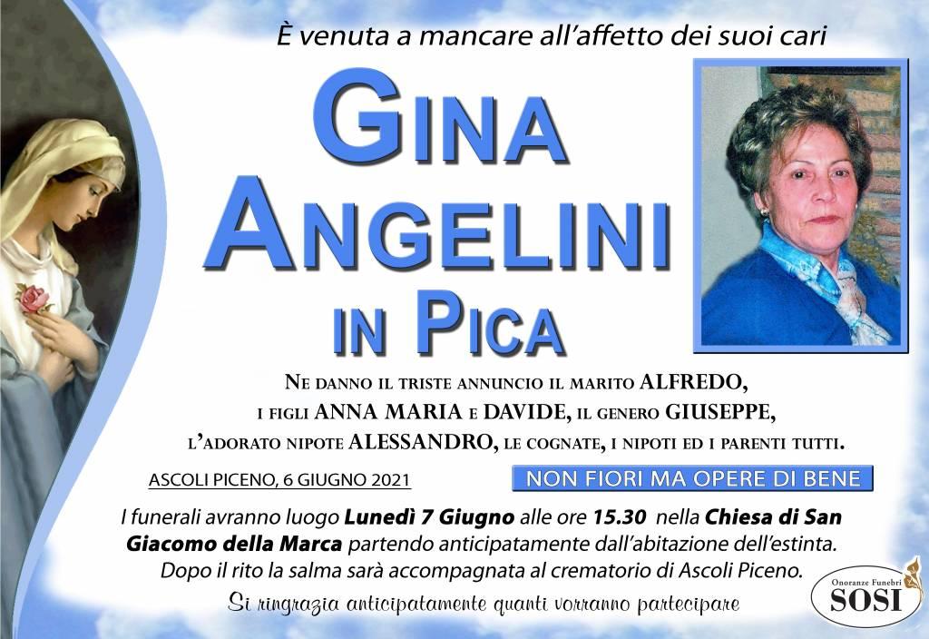 Manifesto funebre di  Gina Angelini