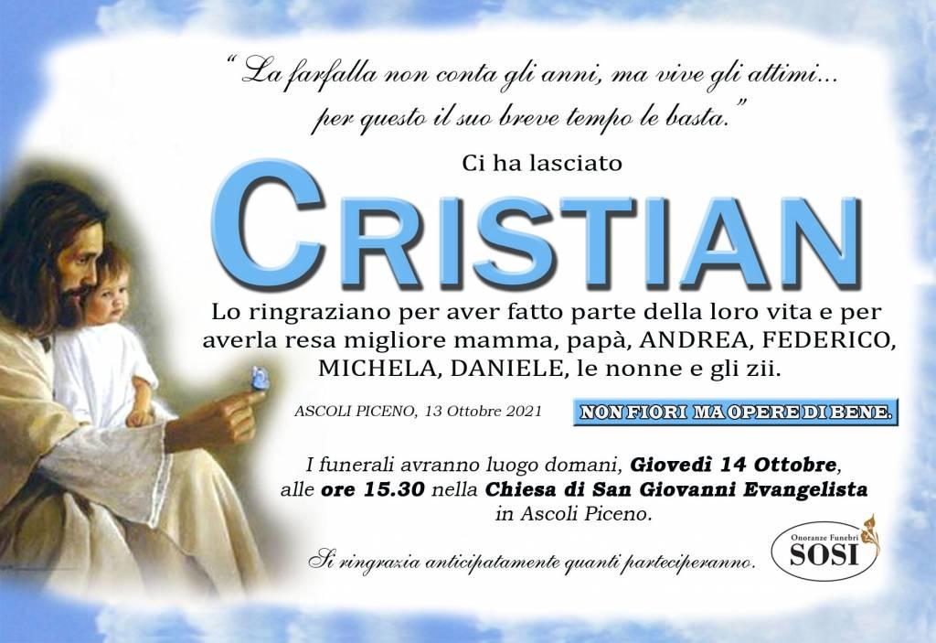 Manifesto funebre di  Cristian Maoloni