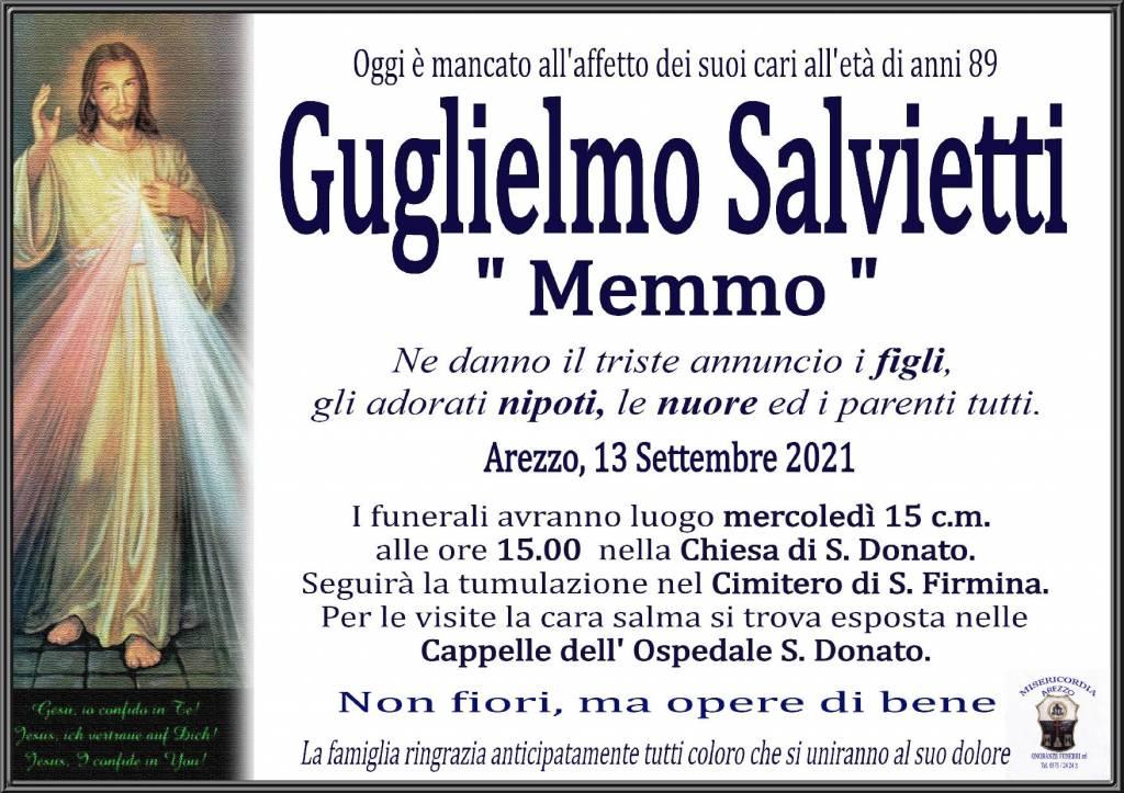 Manifesto funebre di  Guglielmo Salvietti 'MEMMO'