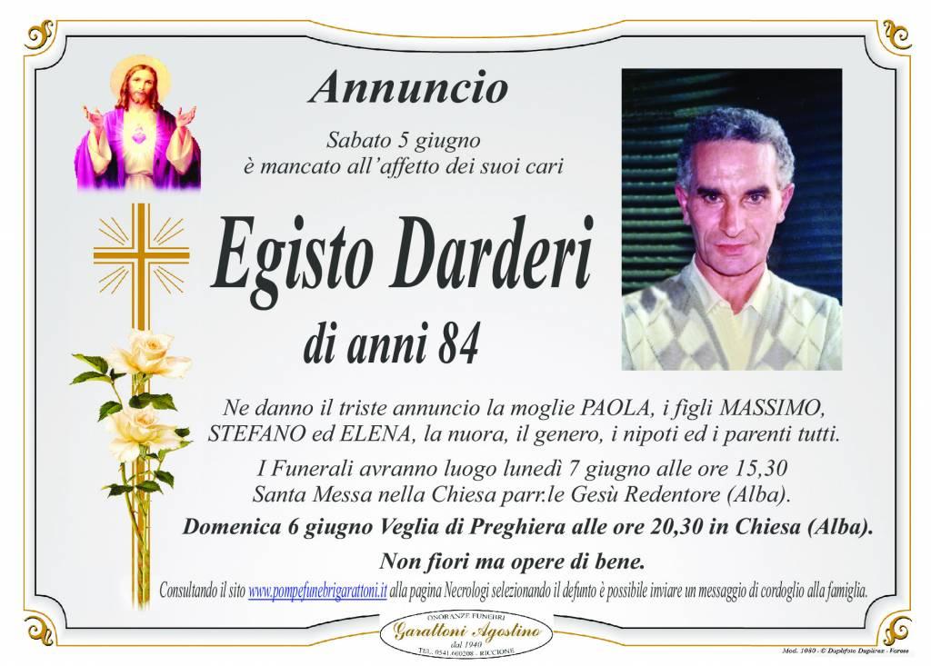 Manifesto funebre di  Egisto Darderi