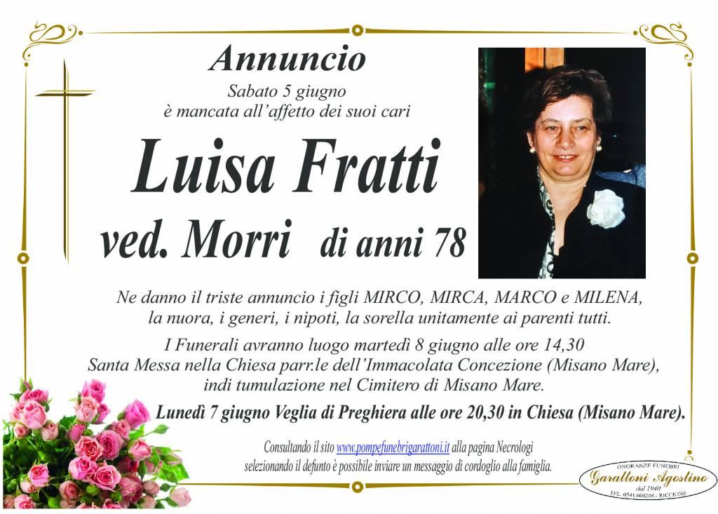 Manifesto funebre di  Luisa Fratti