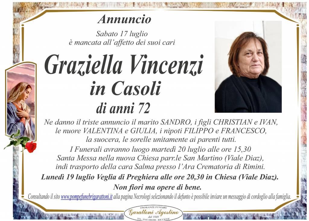 Manifesto funebre di  Graziella Vincenzi