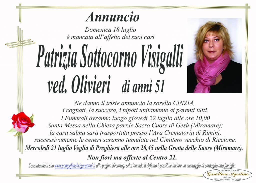 Manifesto funebre di  Patrizia Sottocorno Visigalli