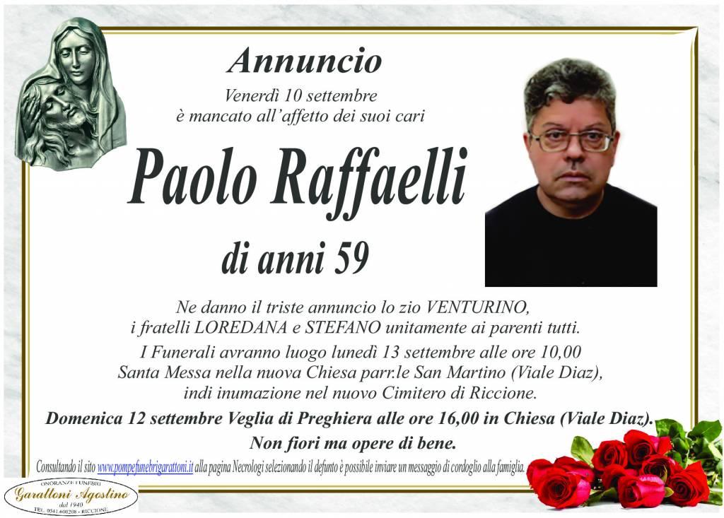Manifesto funebre di  Paolo Raffaelli