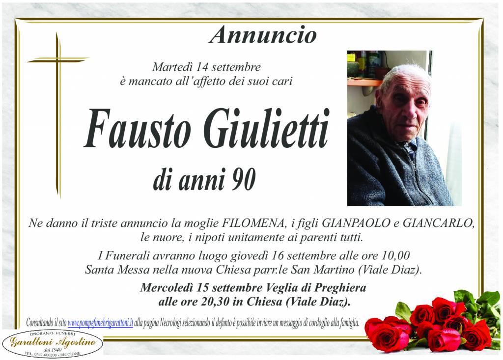 Manifesto funebre di  Fausto Giulietti