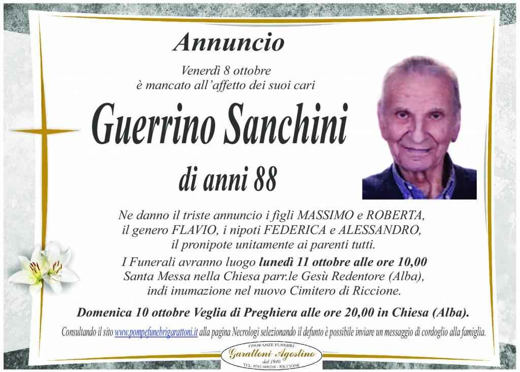 Manifesto funebre di  Guerrino Sanchini