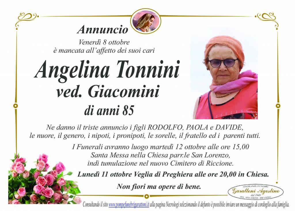 Manifesto funebre di  Angelina Tonnini