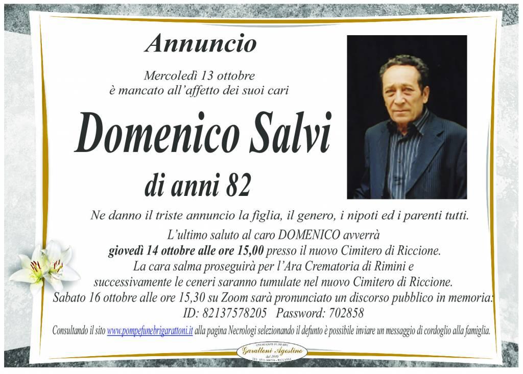 Manifesto funebre di  Domenico Salvi