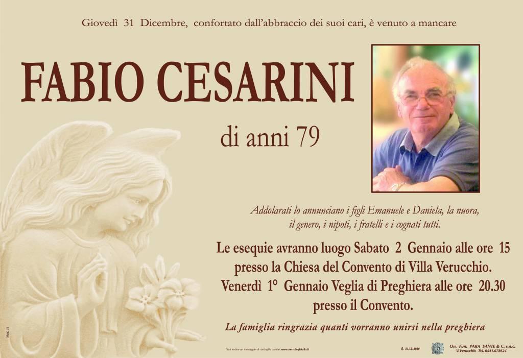 Manifesto funebre di  Fabio Cesarini