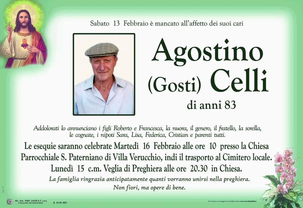 Manifesto funebre di  Agostino Celli 'Gosti'