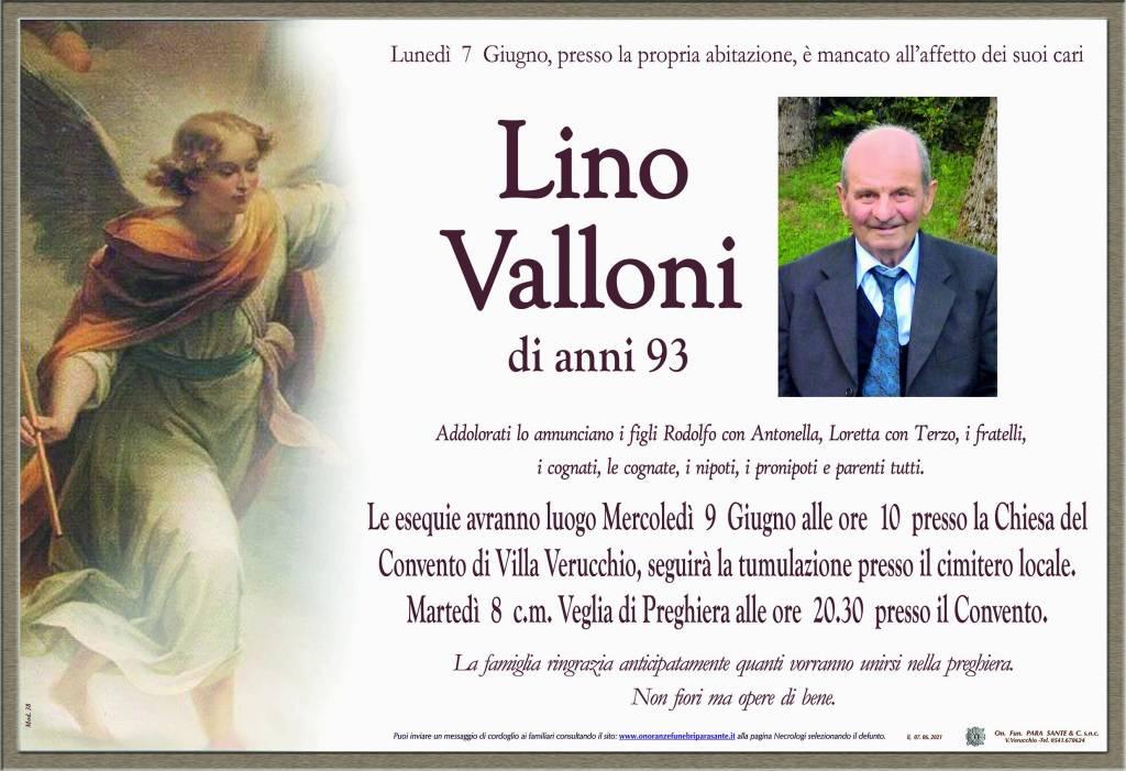 Manifesto funebre di  Lino Valloni