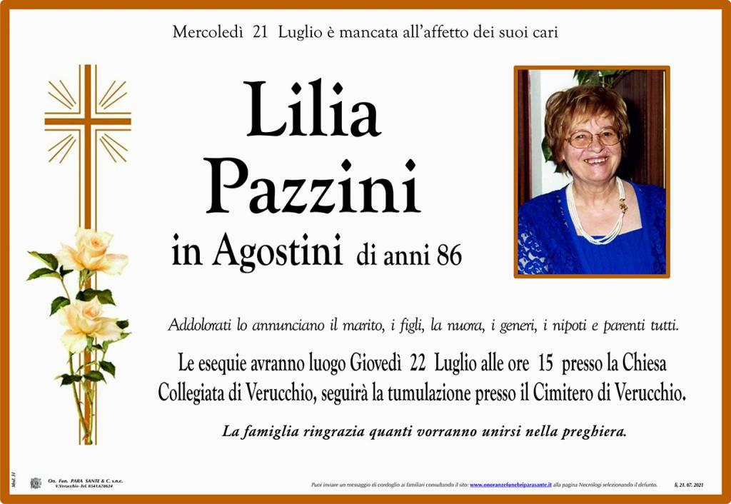 Manifesto funebre di  Lilia Pazzini