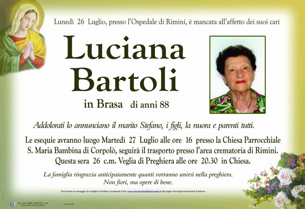 Manifesto funebre di  Luciana Bartoli