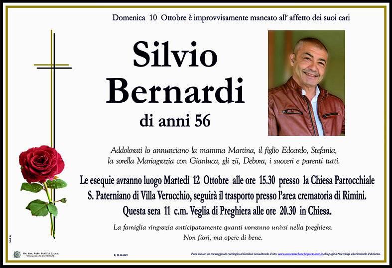 Manifesto funebre di  Silvio Bernardi