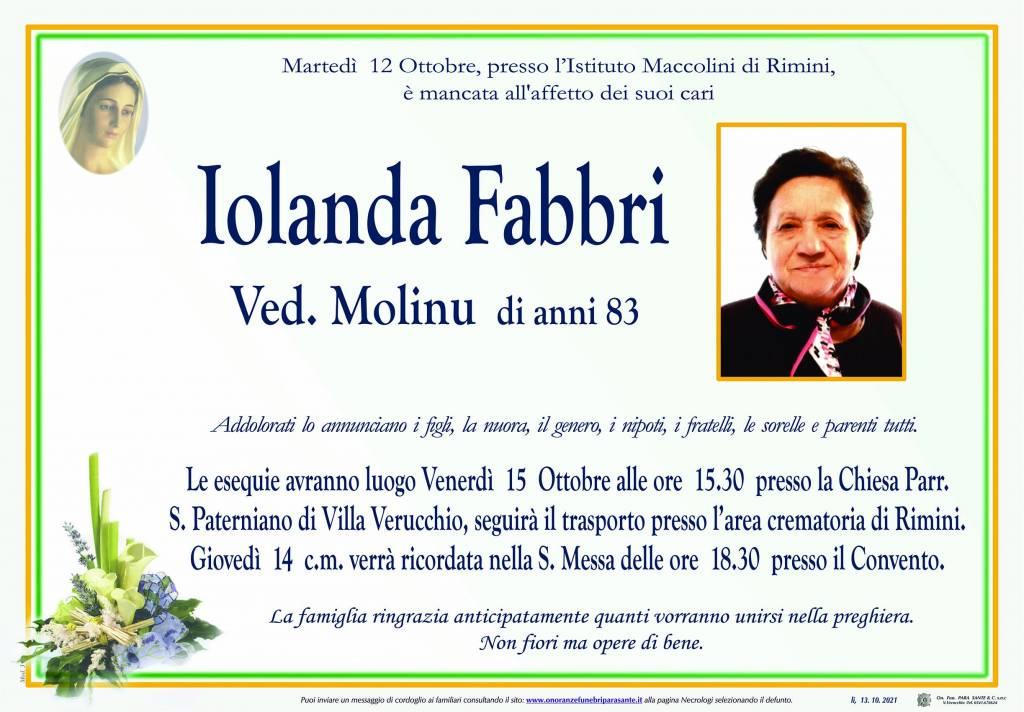 Manifesto funebre di  Iolanda Fabbri
