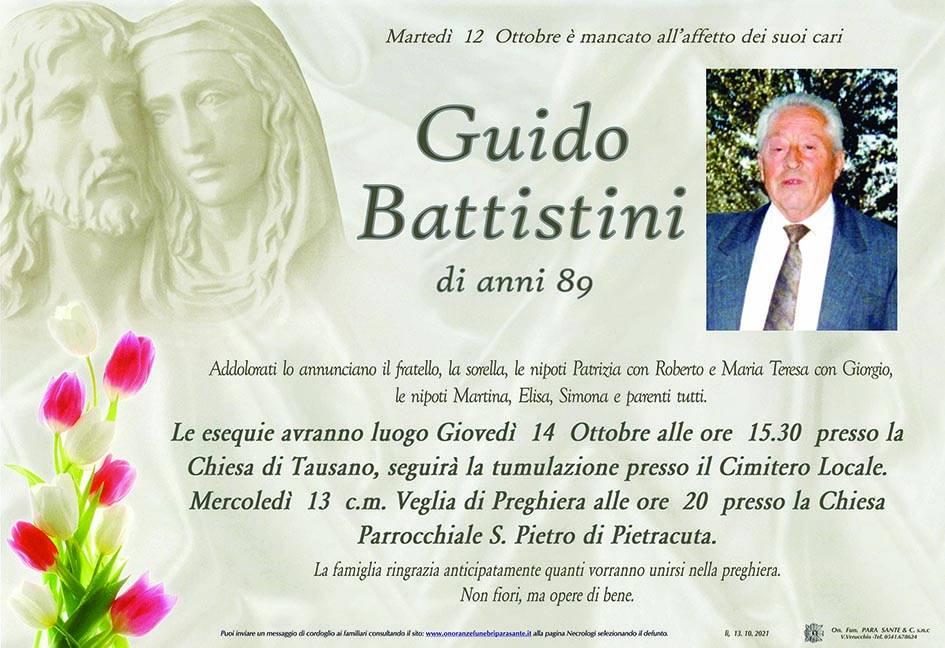 Manifesto funebre di  Guido Battistini
