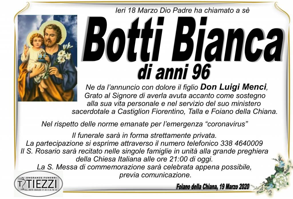 Manifesto funebre di  Bianca Botti
